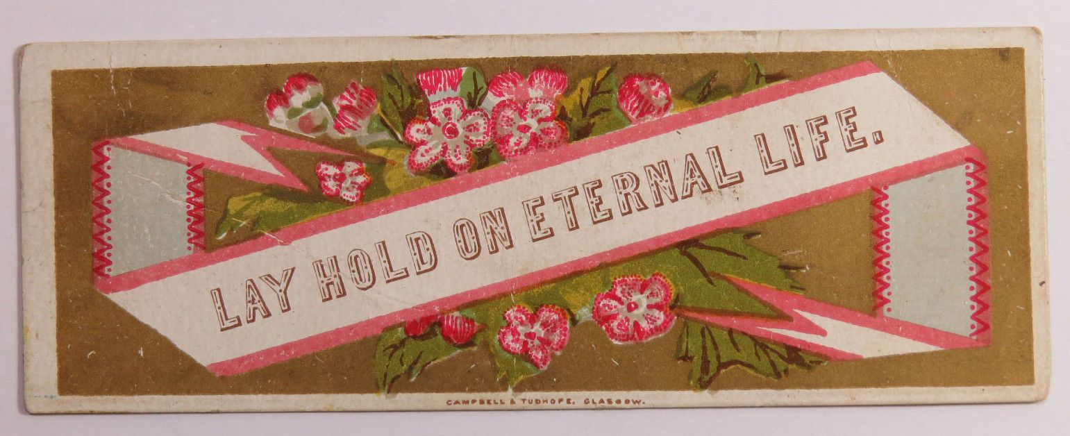 Lot Of 5 Religious Victorian Cards With Floral Designs Raphael