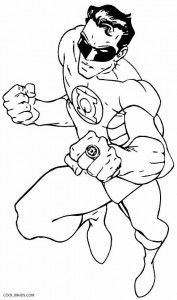 Green Lantern Coloring Pages Super Coloring Pages Coloring
