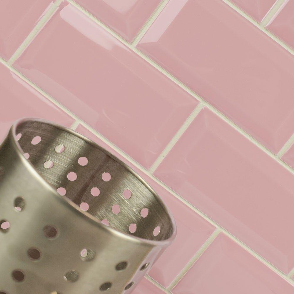 Covent Garden Pink Tiles Metro 200x100 Tiles 200x100x7mm