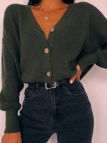 Photo of Women's Fashion Pure Color Long-sleeved Knit Top