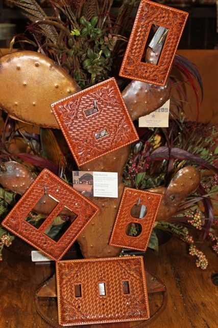 Leather Switch Plate Covers Leather Wall Crafts