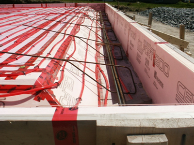 Image Result For In Floor Heat Concrete Slab Slab Insulation Floor Heating Systems Insulated Concrete Forms
