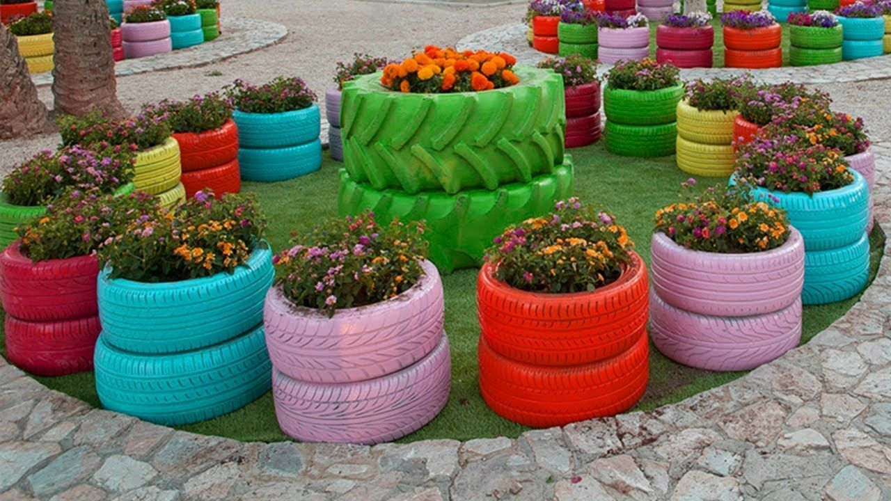 25 Creative Diy Beautiful Garden Decorations With Used Tires You