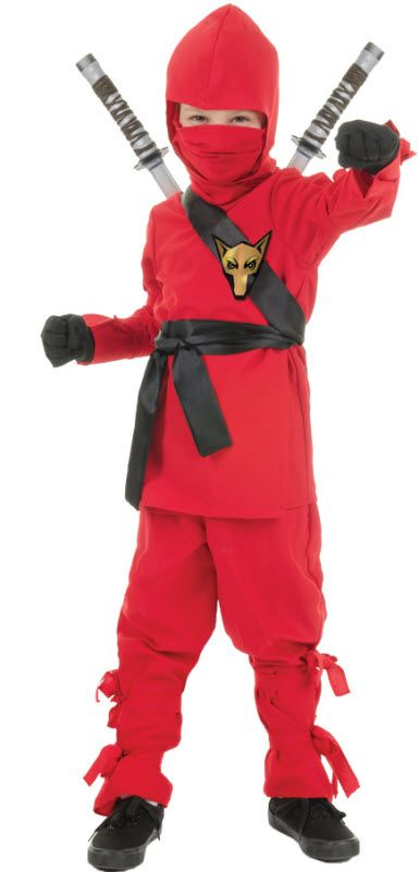 Red Ninja Boy's Costume