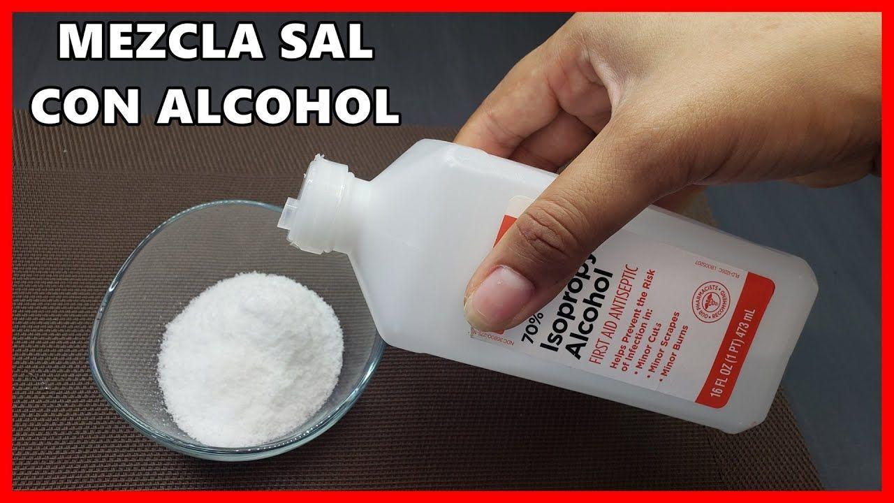Mezcla sal con alcohol de esta forma pocos saben e