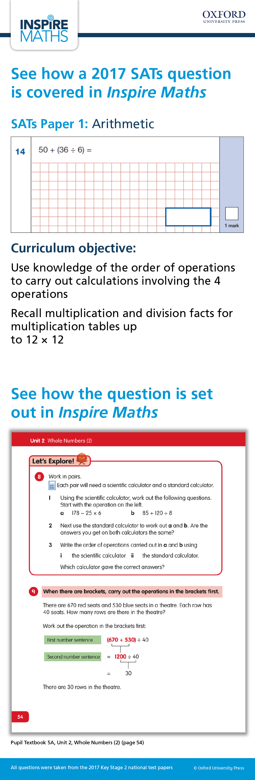 See how a 2017 SATs question is covered in an Inspire Maths textbook ...