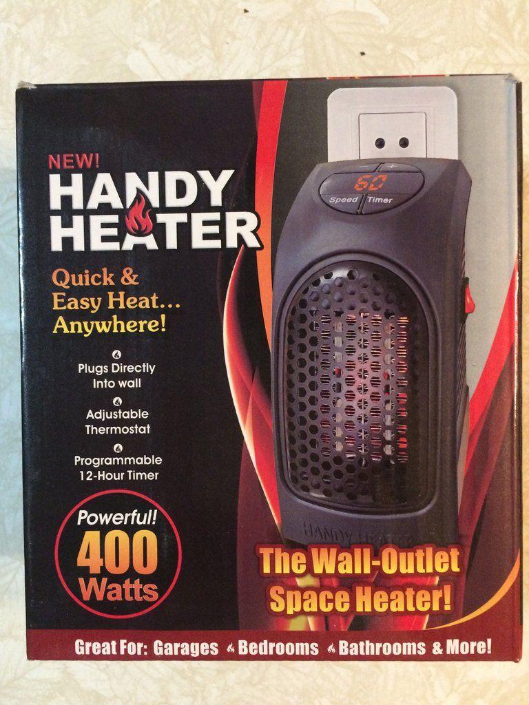 Handy heater 400 watt teardrop camping wall outlets