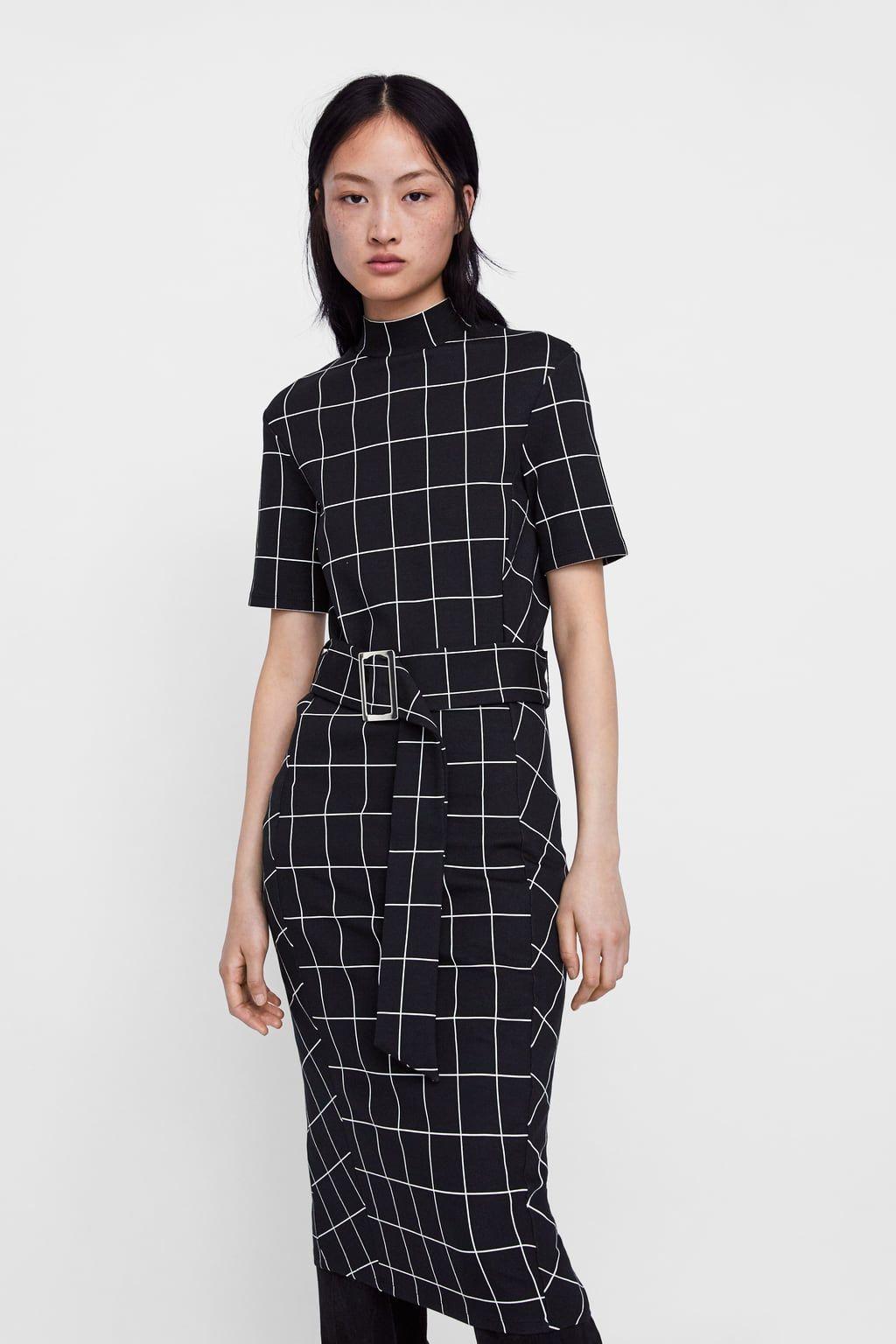67da3c7b0 Image 2 of BELTED PLAID DRESS from Zara | Stitch Fix | Trunk Club in ...