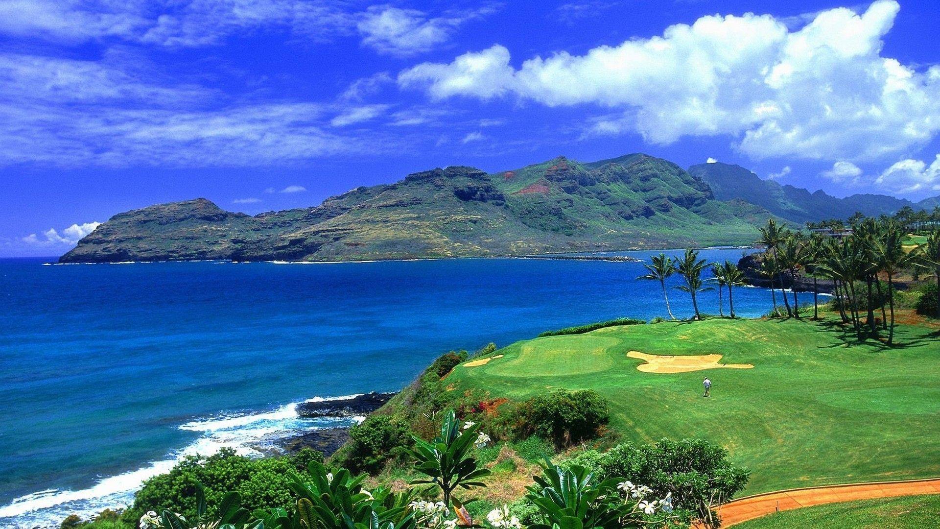Hawaii Golf 1920x1080 Golf Via Www Allwallpaper In Com Imagens