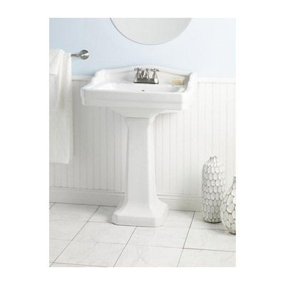 Cheviot Small Es Pedestal Lavatory Sink 4 Inch Faucet Drillings 18 Deep