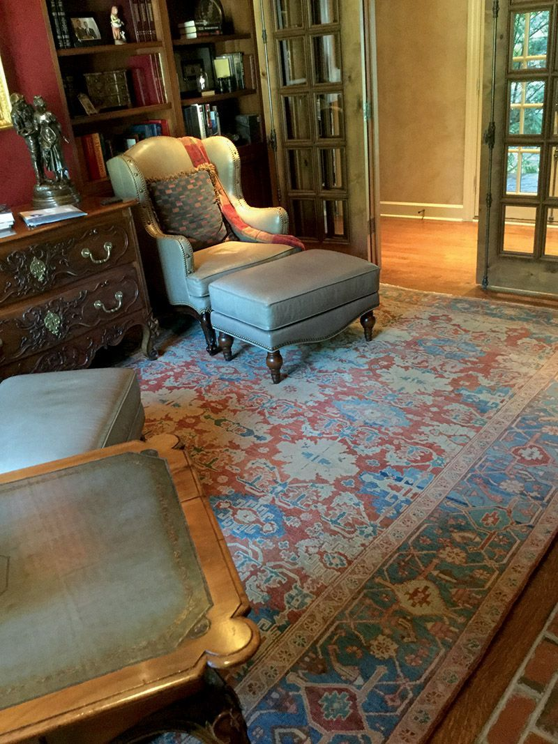 Featured Client S Home Bakshaish Art Carpet Contributes Intellectual And Emotional Enrichment To Elegant Library Nook Click Read More About This Room