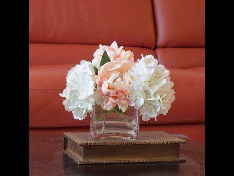 Diy Silk Flower Arrangement Using A Gel Water Arrangements