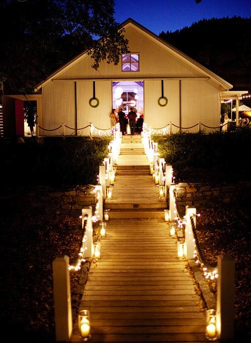 Outdoor Walkway Lighting For Wedding