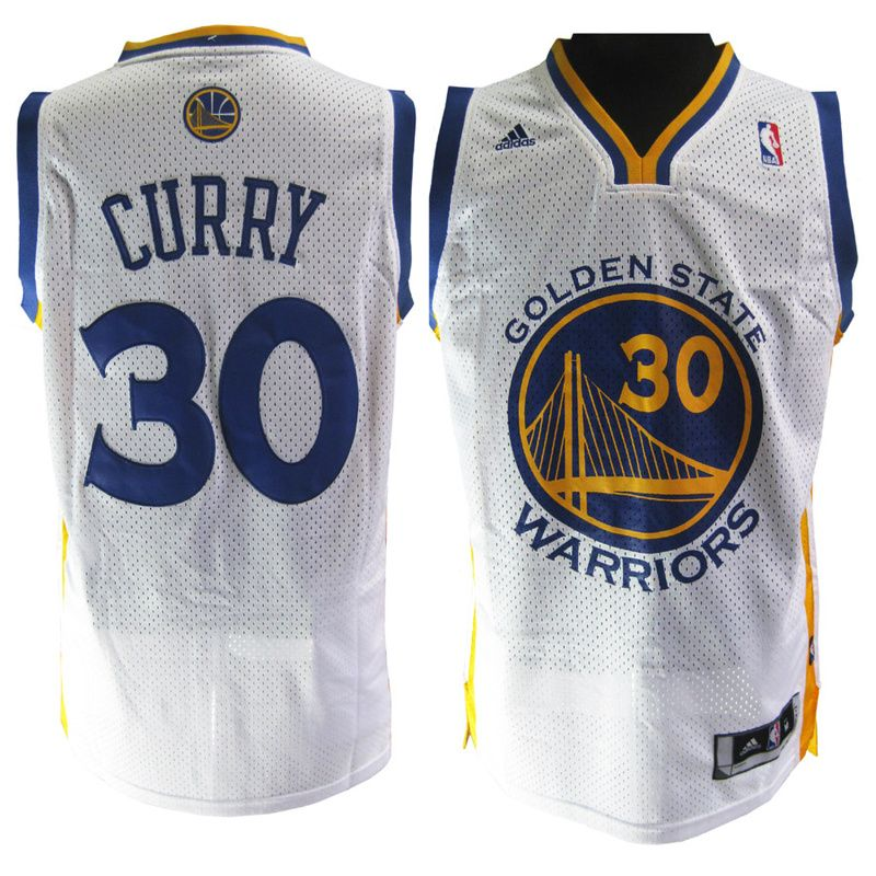 Warriors #30 Stephen Curry White Embroidered NBA Jersey! Only $20.50USD