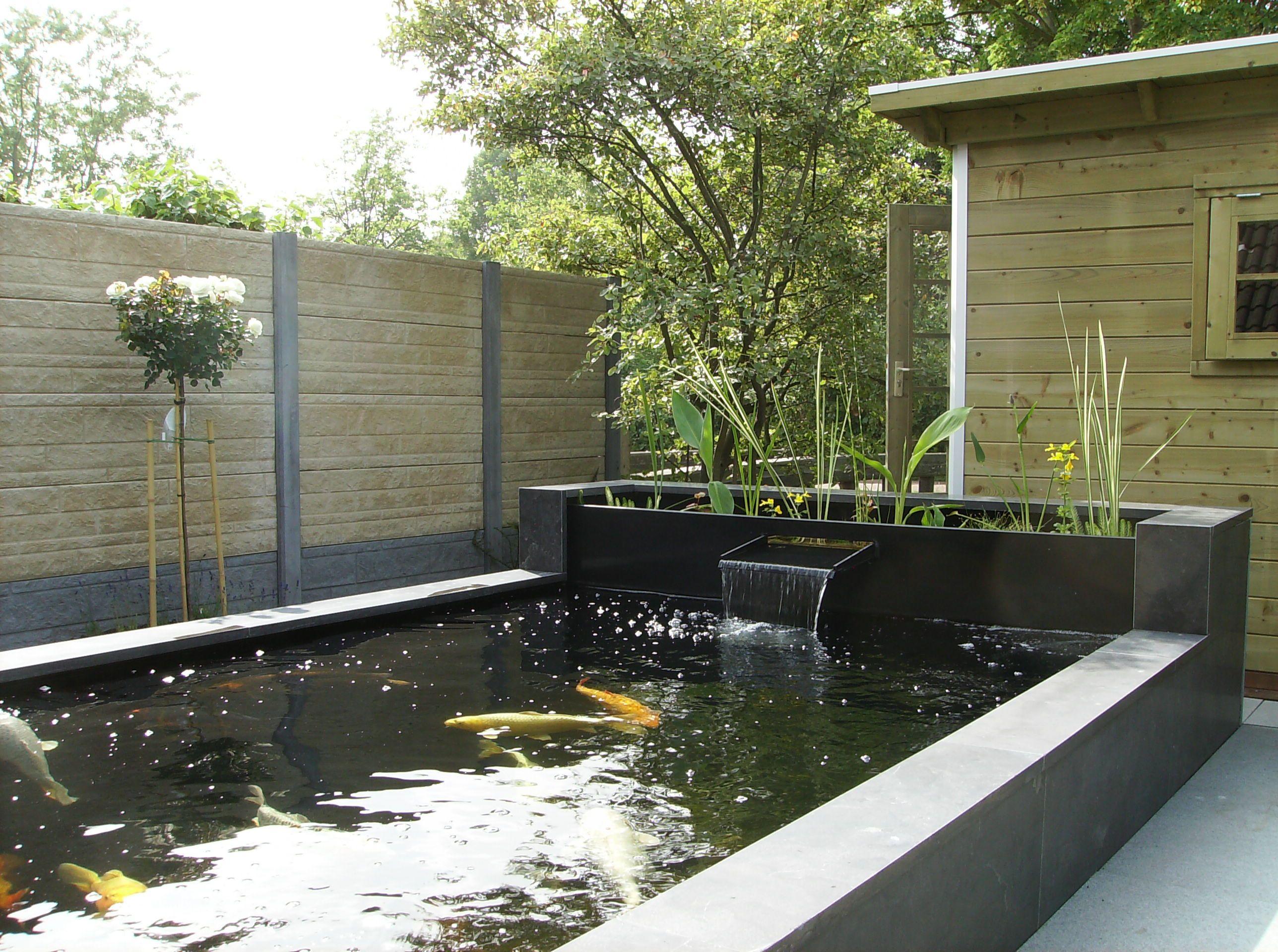 Moderne tuin met vijver google zoeken waterelement pinterest moderne tuin zoeken en google - Huis in de tuin ...