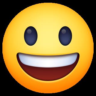Grinning Face With Big Eyes Emoji On Facebook 4 0 Big Eyes Emoji Big Eyes Emoji