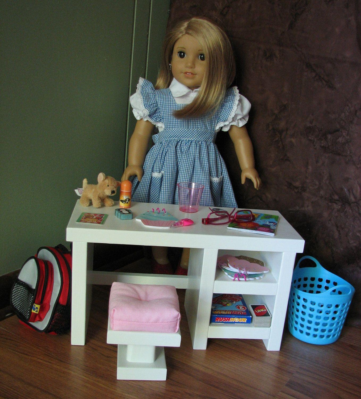 "American Girl Doll Bedroom: Bedroom Desk For American Girl Doll Or Other 18"" Doll"
