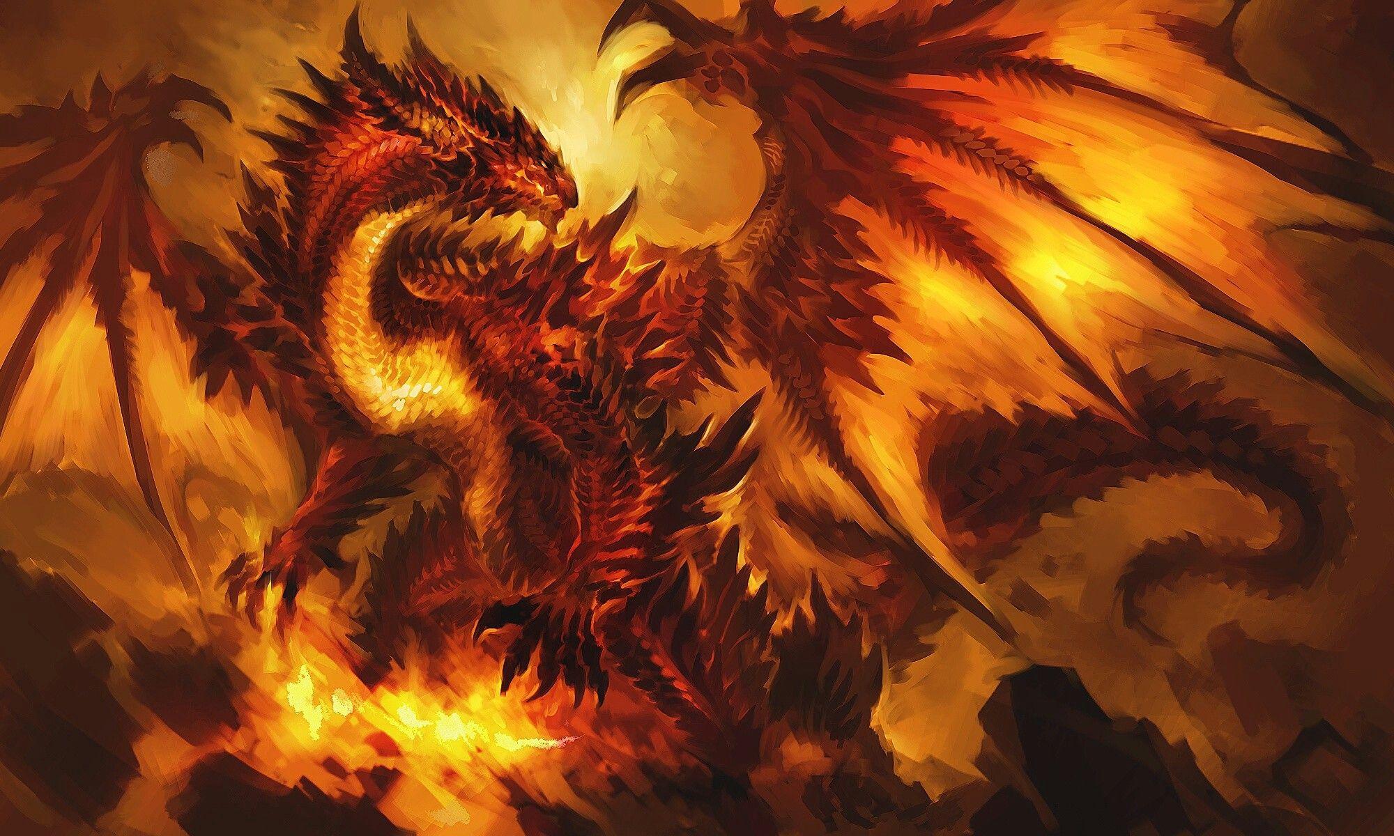 картинки огневого дракона