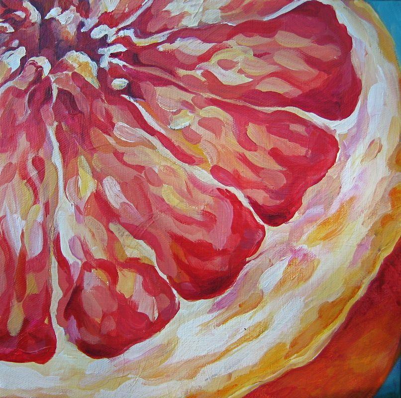 Sweet N Tart A Series Of Small Paintings Fruit Painting Small Paintings Natural Form Artists