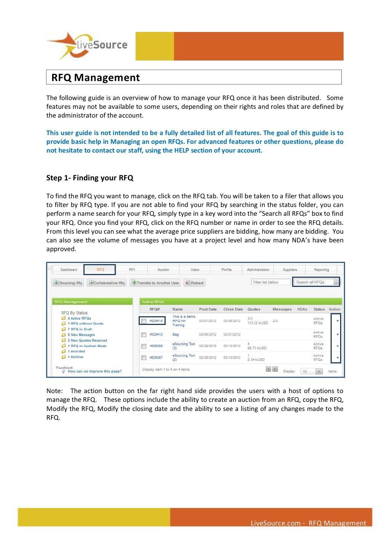 Rfq Management By Fredericrocky Via Slideshare Management Administration User Guide