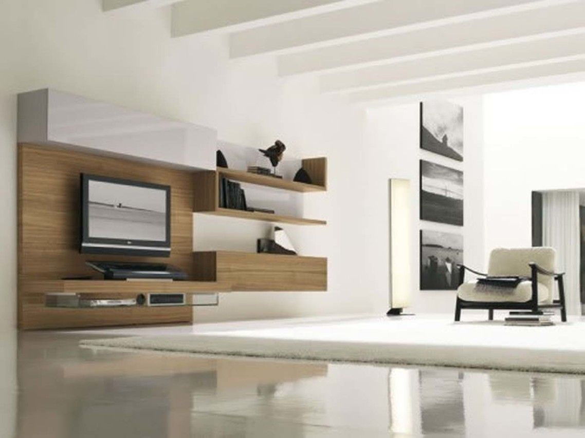 Ravishing Furniture Modern Tv Wall Units Design Ideas On The Light Wood Wall U2026