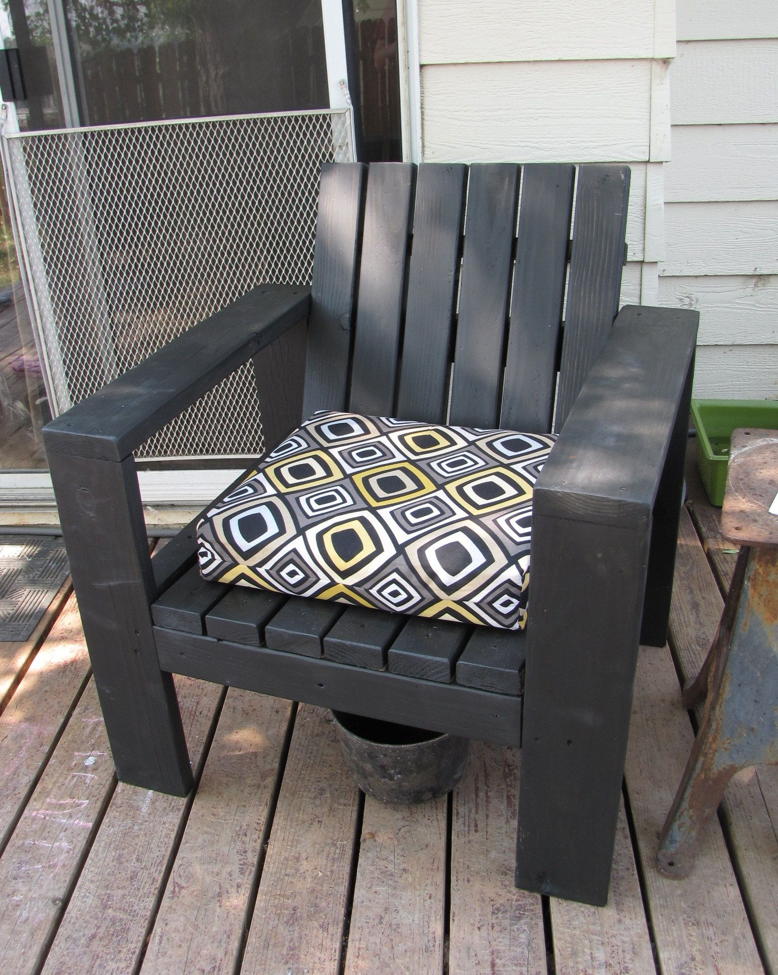 simple outdoor lounge chair beefed up do it yourself home