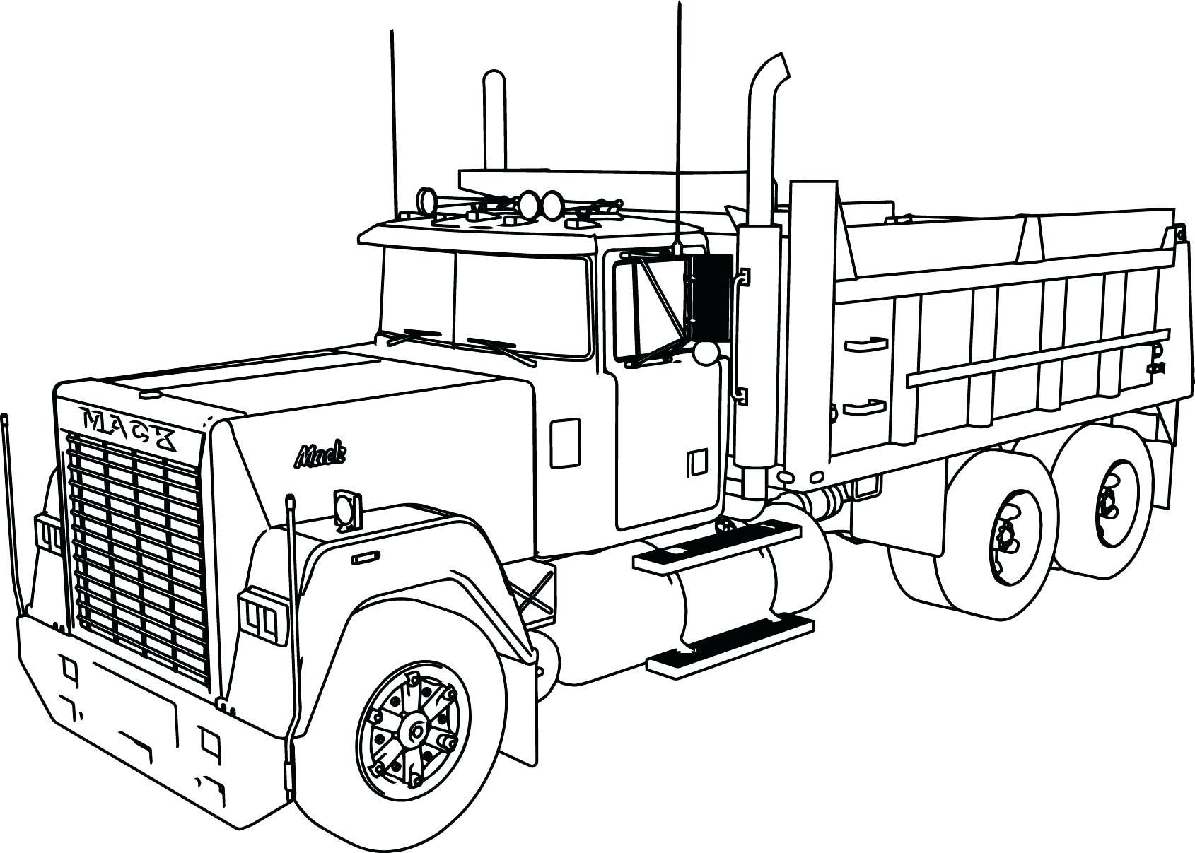 16 Coloring Page Truck Truck Coloring Pages Tractor Coloring Pages Dumper Truck