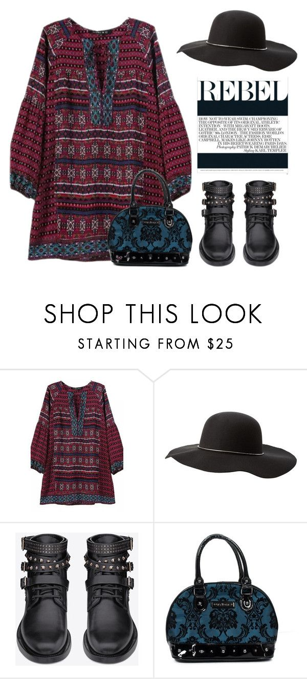 """""""Rebel With A Cause"""" by conch-lady ❤ liked on Polyvore featuring Charlotte Russe, Yves Saint Laurent and Rock Rebel"""