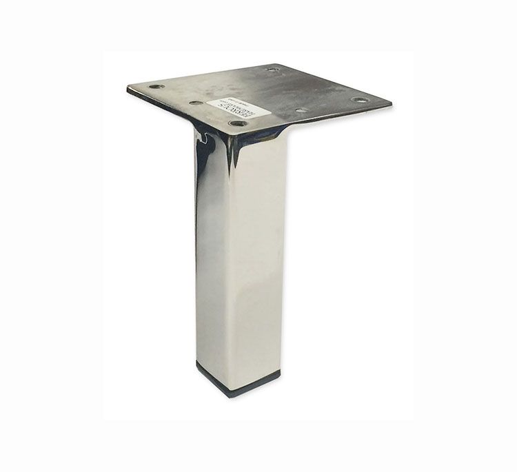 "Furniture Legs Los Angeles stan- corner is a 1"" square metal furniture leg with a 3"" square"