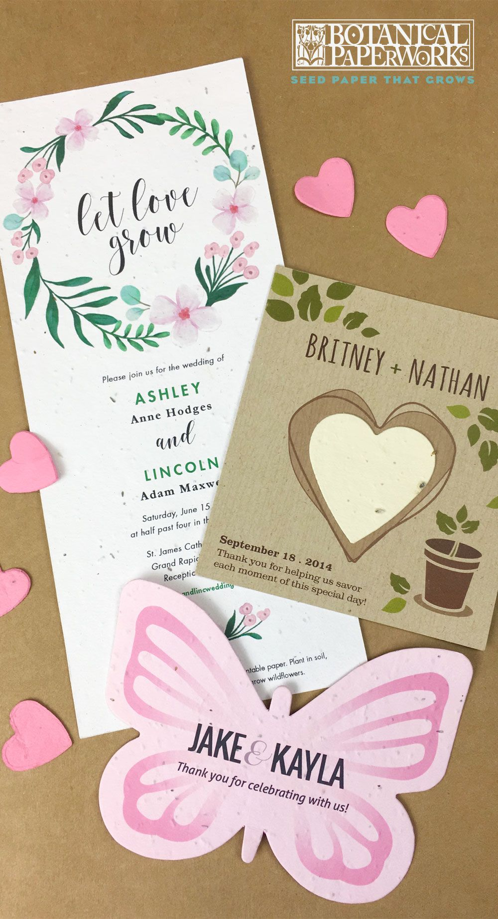 Browse Eco Friendly Wedding Favors Seed Paper Wedding Invitations