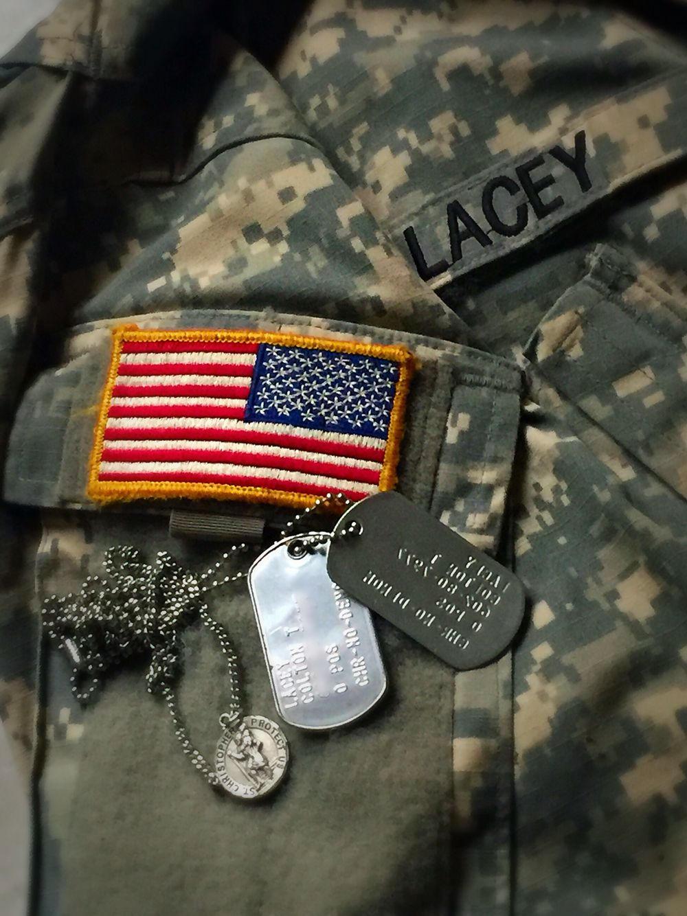 Being a Military man Dog tag necklace, Tag necklace