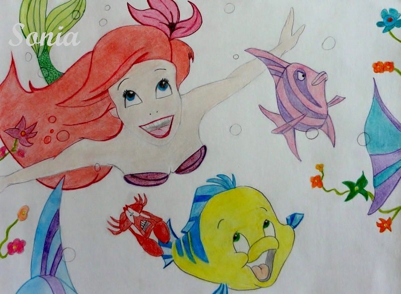 Attractive Coloriage Ariel Sebastien Component - Coloring Pages ...
