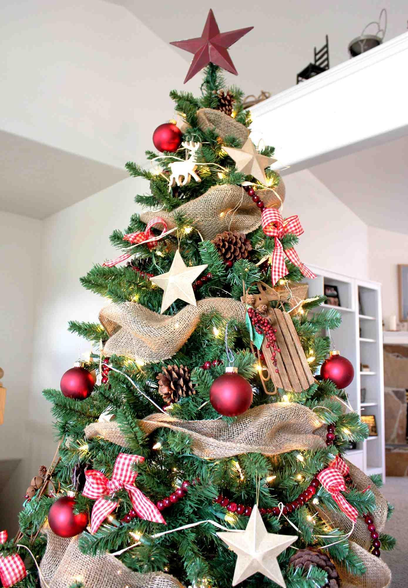 Craft Store Creativity Rustic Christmas Tree Rustic Christmas Christmas Decorations