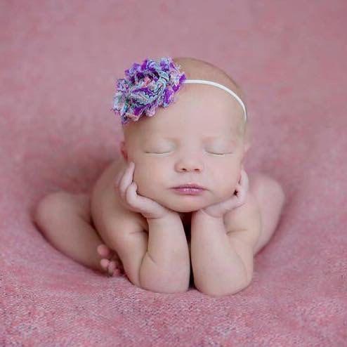 Newborn Headband Infant Headbands Headbands Headband for Baby Newborn Baby Shabby Chic MAUVE BABY Headband Headbands for Babies