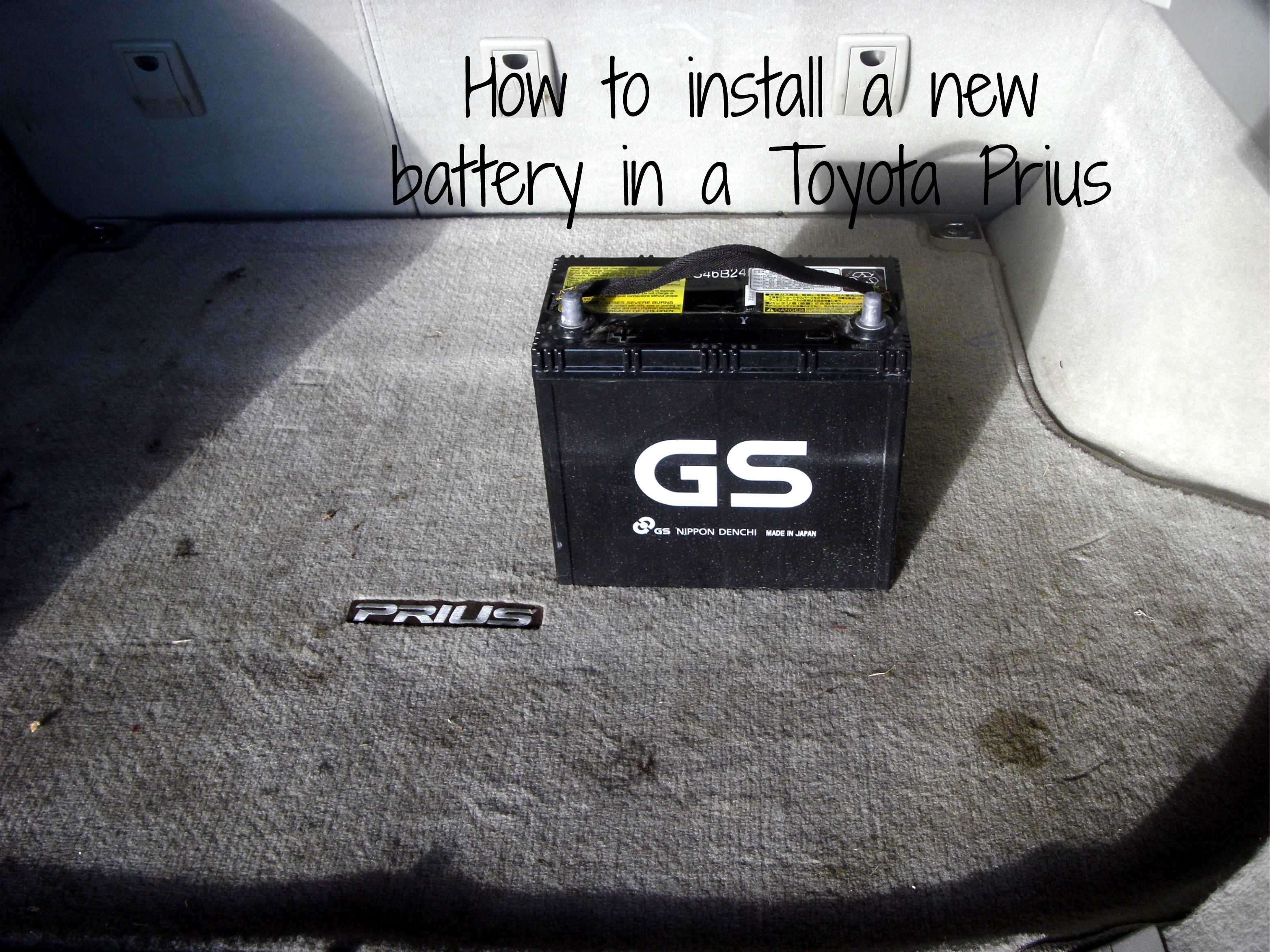 How to Change a 12V Prius Battery 12V Battery Replacement