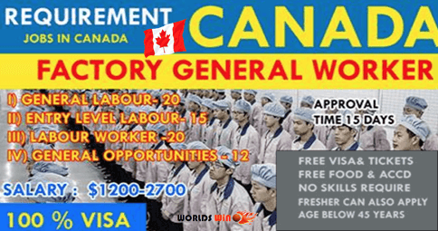 Requirement General Worker In Canada Submit Now General Worker Worker Canada