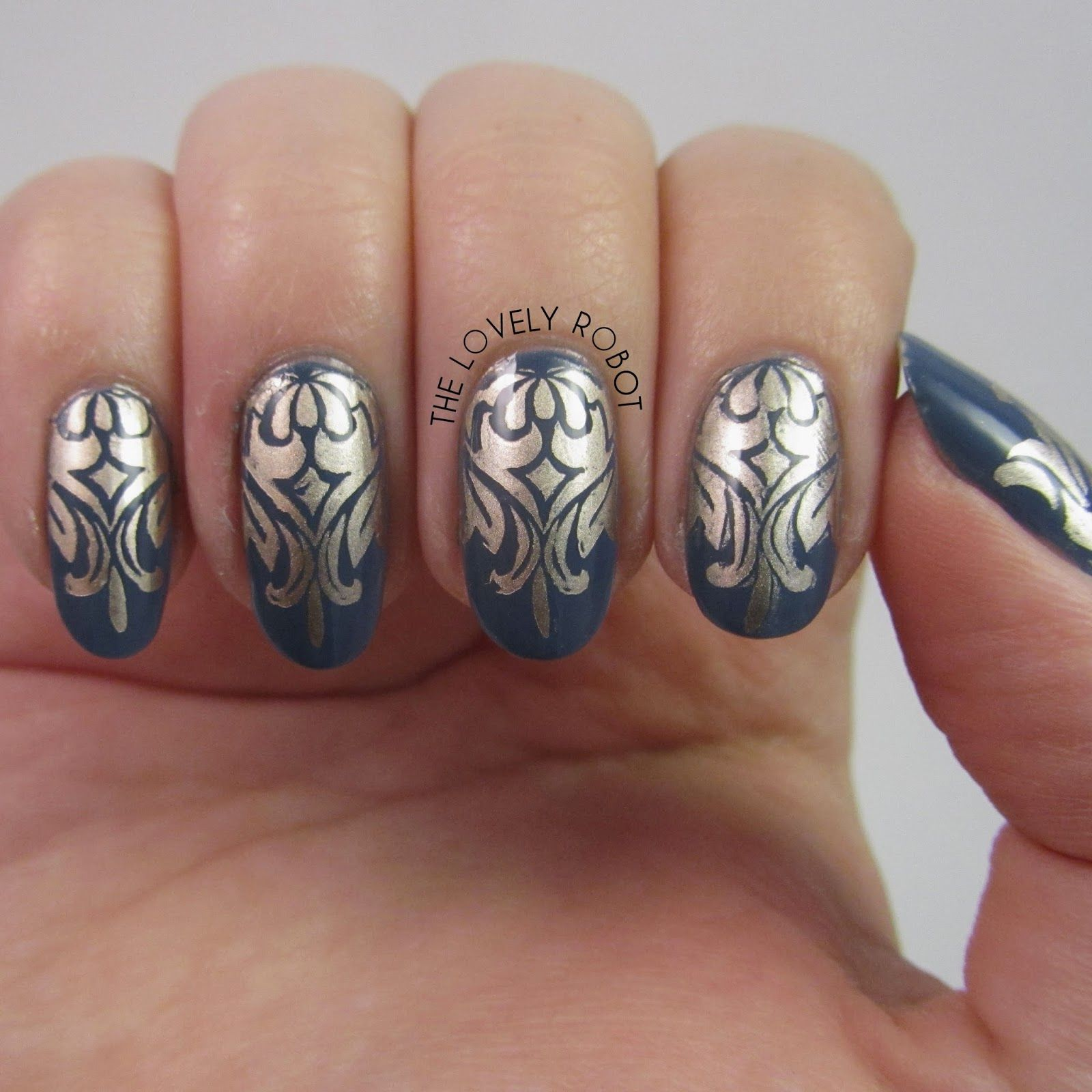 damask nails moyou london fashionista 08   Nail Art   Pinterest ...