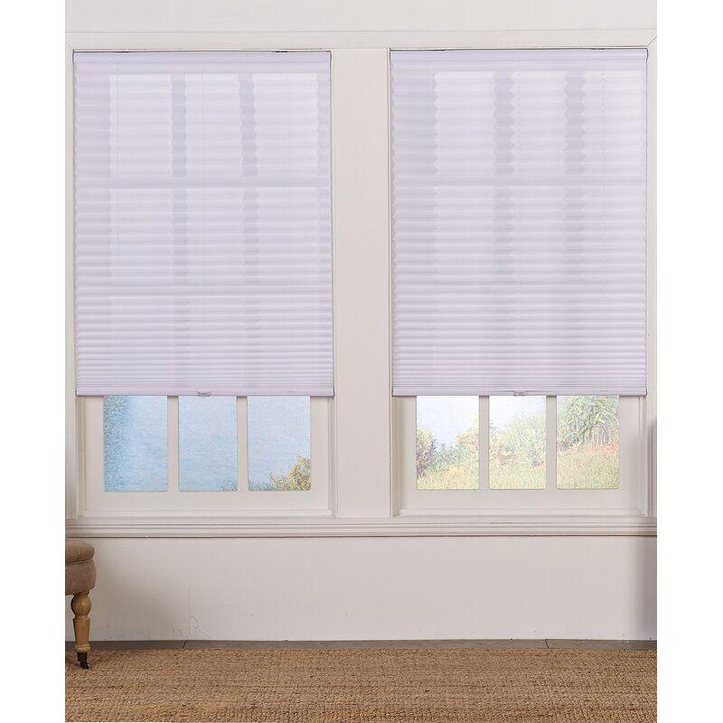 Cordless Semi Sheer Pleated Shade Pleated Shade Cordless Pleated Shades White Window Treatments