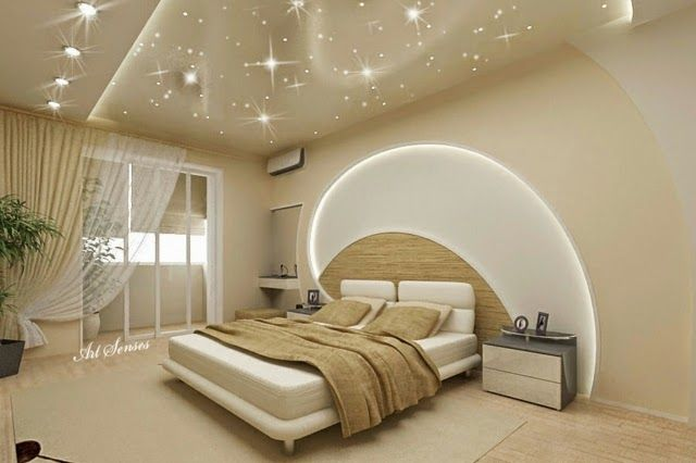 POP false ceiling designs for bedroom LED lights wall pop