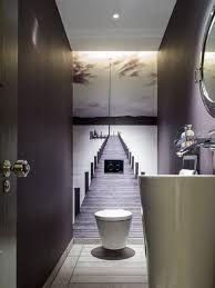Mal keine Fliesen im Gäste-WC. Der kleine Raum bekommt eine tolle Tiefenwirking. Man möchte direkt durchgehen. #Gäste-WC #smalltoiletroom