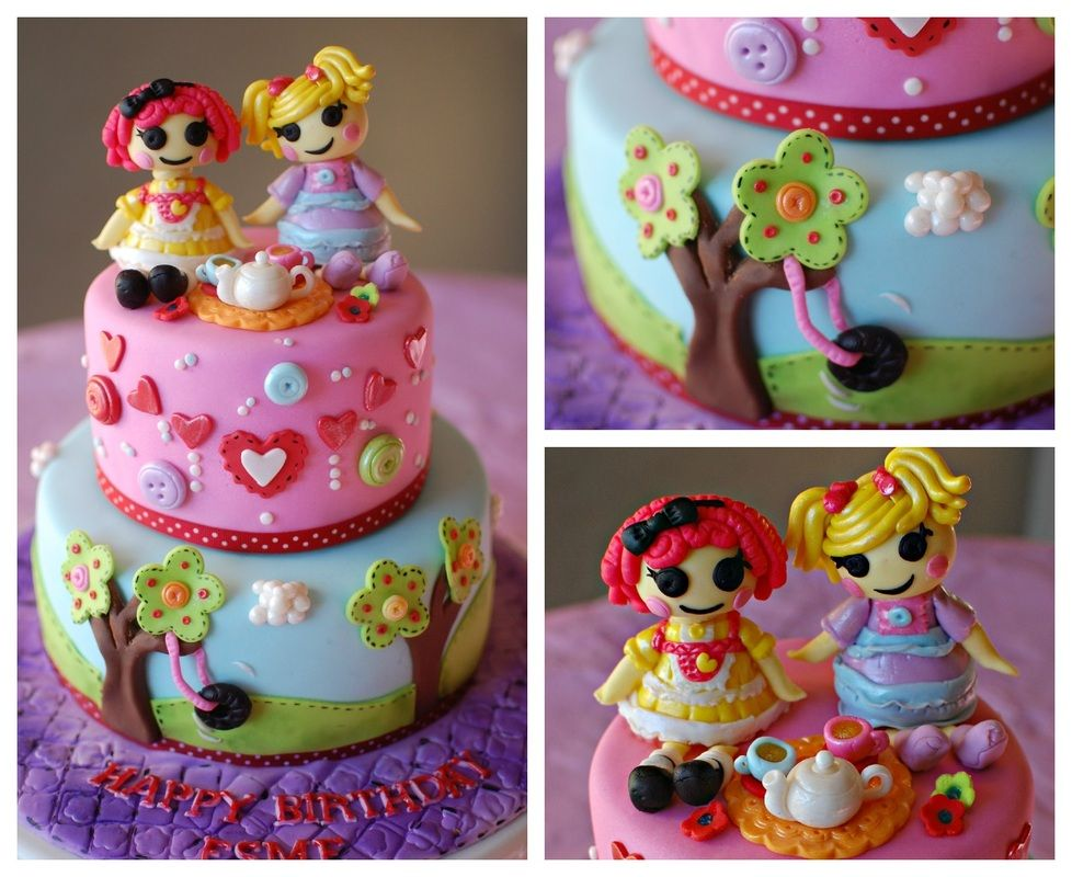 Cake Art By Rabia : Such a lalalovely cake! The teapot and cups are a sew cute ...