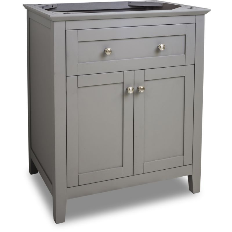 Jeffrey Alexander VAN102 30 Chatham Shaker Collection 30 Inch Wide Bathroom  Vani Grey Fixture Vanity