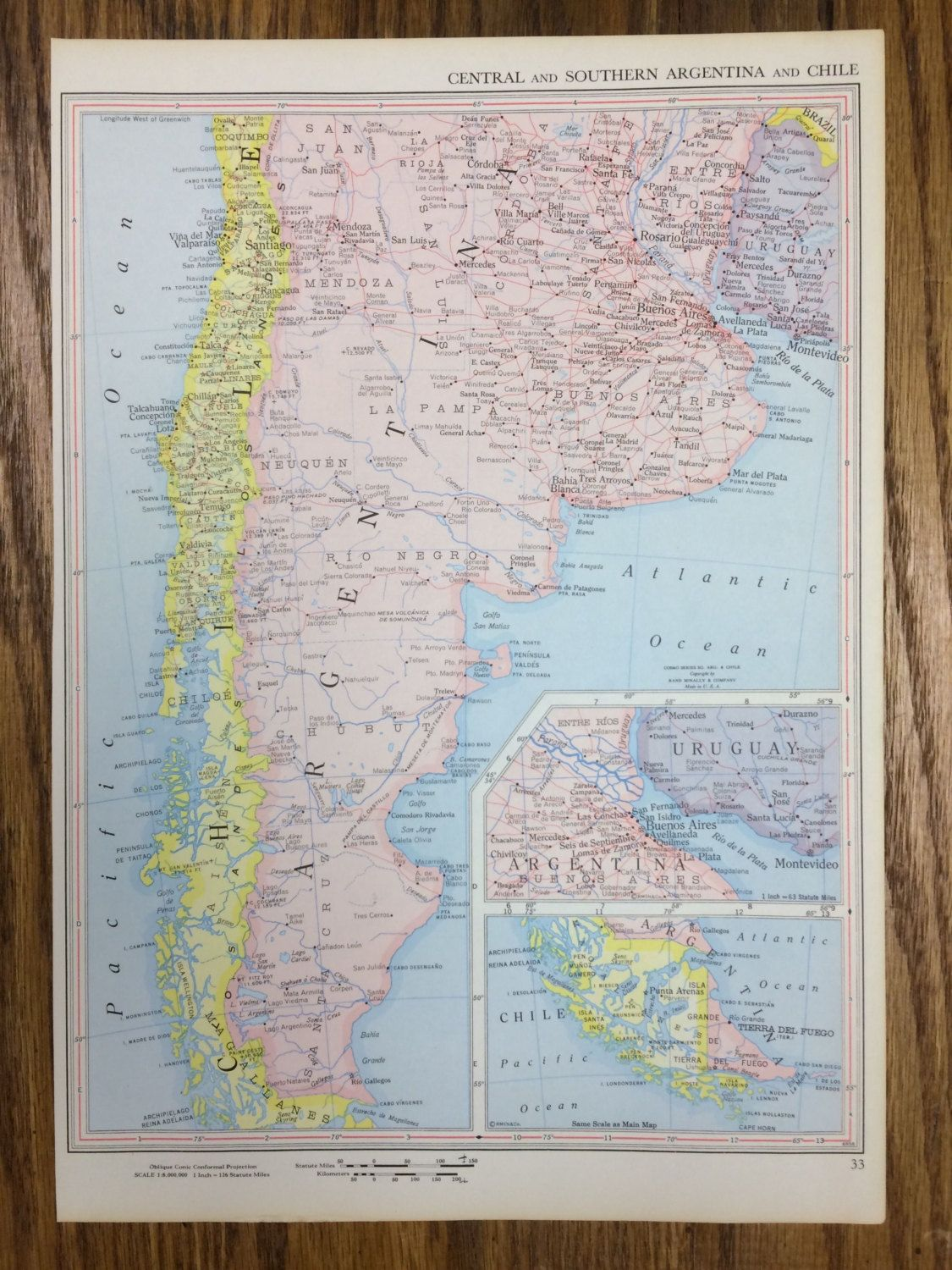 Central and southern argentina chile large map 1959 space age 1959 central and southern argentina chile large map 1250 use pin10 at checkout gumiabroncs Gallery