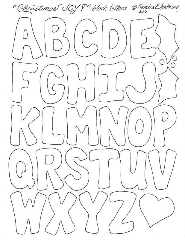 Block Letter Template Alphabet Letter Templates Lettering Alphabet Printable Alphabet Letters