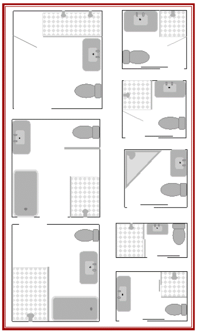 Merveilleux Small Bathroom Floor Plans