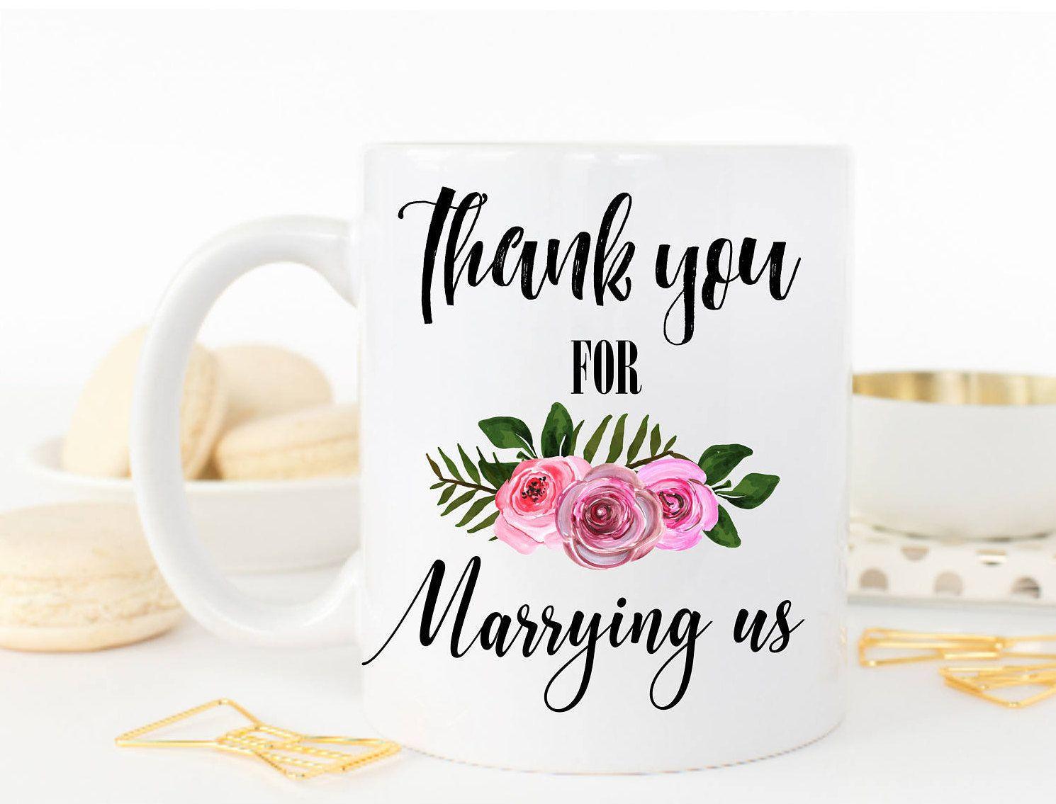 Thank You Mug, Thank you for Marrying us Mug, Gift for