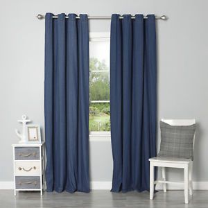 Denim Blue Ring Top Curtains