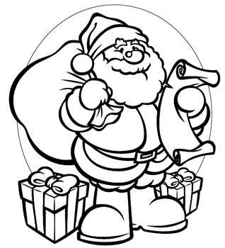 online santa printables and coloring pages