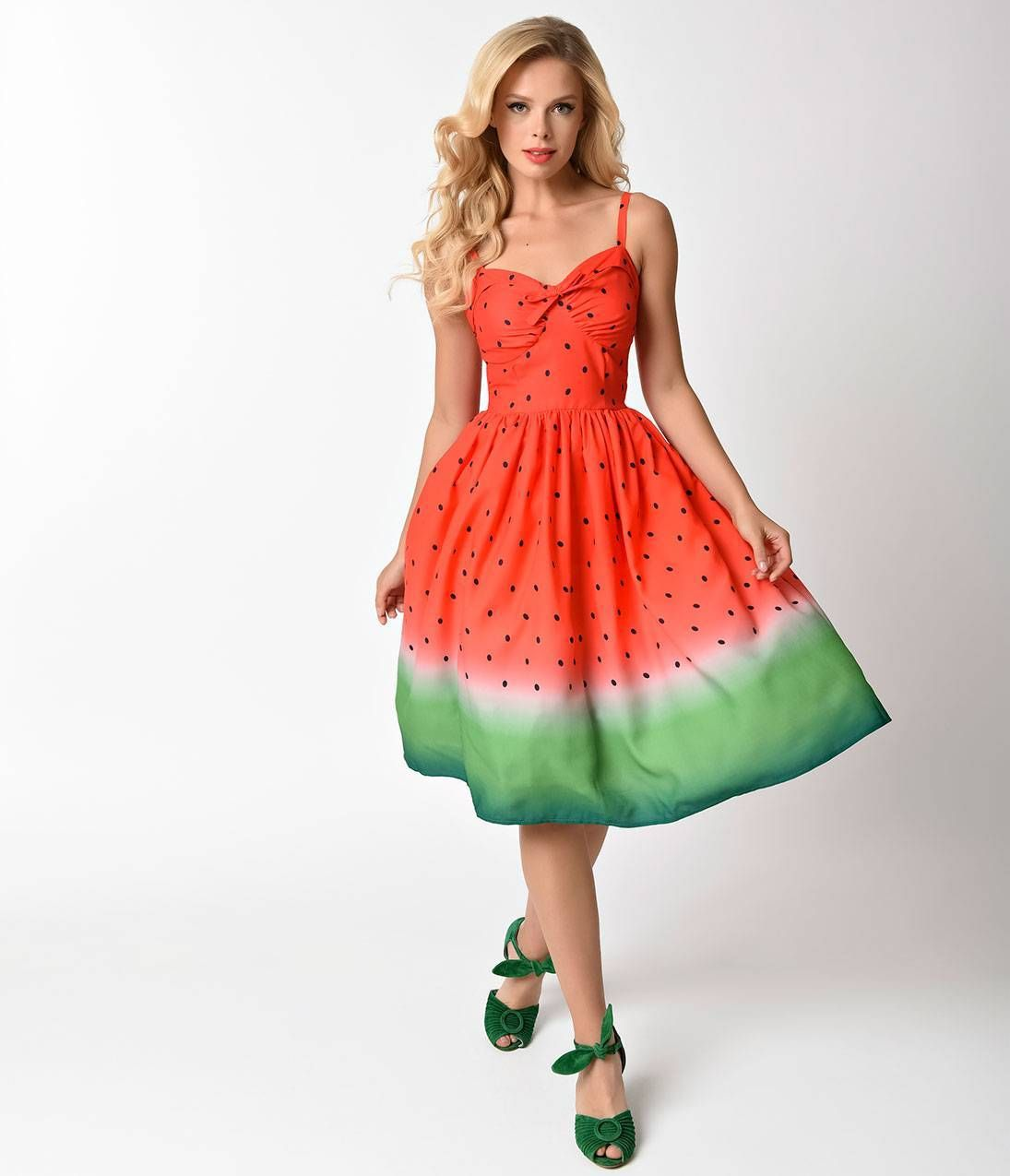 7d716618f7583 Watermelon Vintage Dress in 2019 | my fashion | 1950s fashion ...