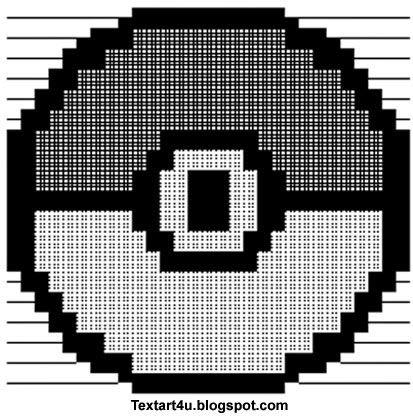 Pokeball copy paste ascii text art cool ascii text art 4 for Ascii text decoration
